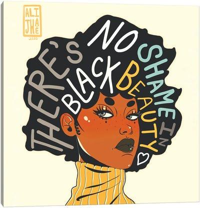 No Shame In Black Beauty Canvas Art Print