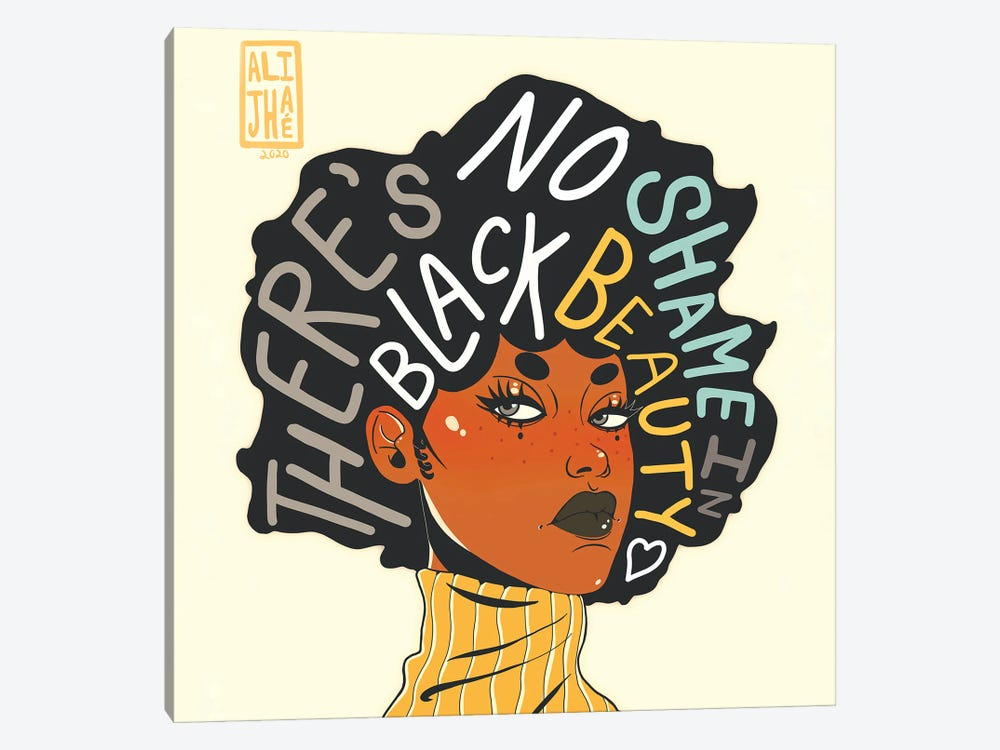 No Shame In Black Beauty by Alijhae West 1-piece Canvas Art Print