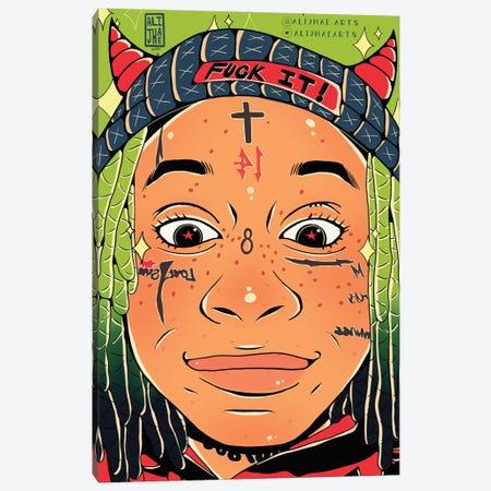 Trippie Redd Canvas Print #AJH33} by Alijhae West Canvas Wall Art