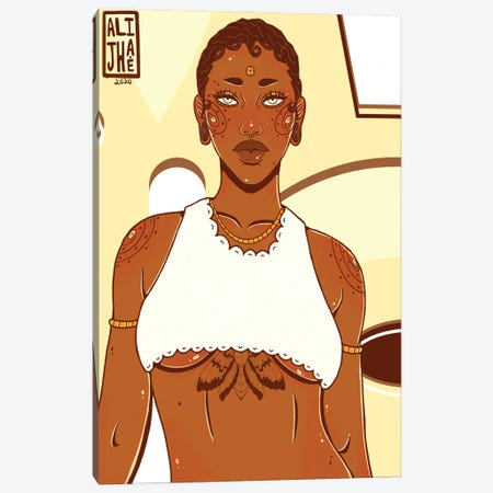 Brown Sugar Canvas Print #AJH6} by Alijhae West Art Print