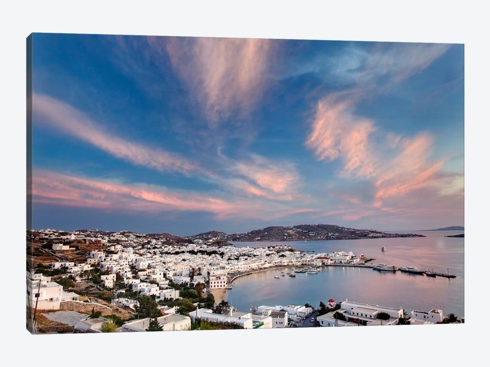 Village Harbor, Mykonos, Cyclades, Greece by Adam Jones 1-piece Canvas Print