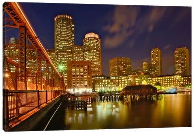 Partial View Of Downtown Skyline, Boston, Massachusetts, USA Canvas Art Print