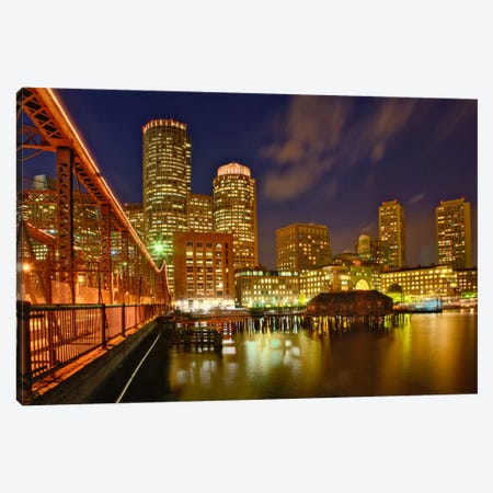 Partial View Of Downtown Skyline, Boston, Massachusetts, USA Canvas Print #AJO21} by Adam Jones Canvas Artwork