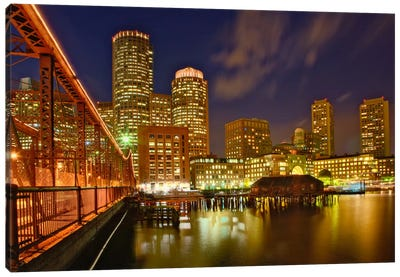 Partial View Of Downtown Skyline, Boston, Massachusetts, USA Canvas Art Print