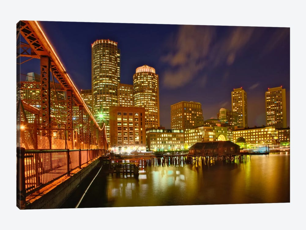 Partial View Of Downtown Skyline, Boston, Massachusetts, USA 1-piece Canvas Art