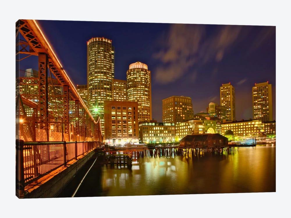 Partial View Of Downtown Skyline, Boston, Massachusetts, USA by Adam Jones 1-piece Canvas Art