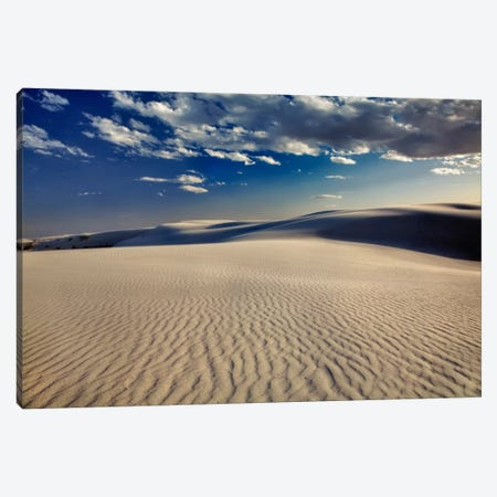 Rippled Dunes, White Sands National Monument, Tularosa Basin, New Mexico, USA Canvas Print #AJO23} by Adam Jones Canvas Artwork