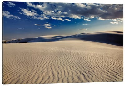 Rippled Dunes, White Sands National Monument, Tularosa Basin, New Mexico, USA Canvas Art Print