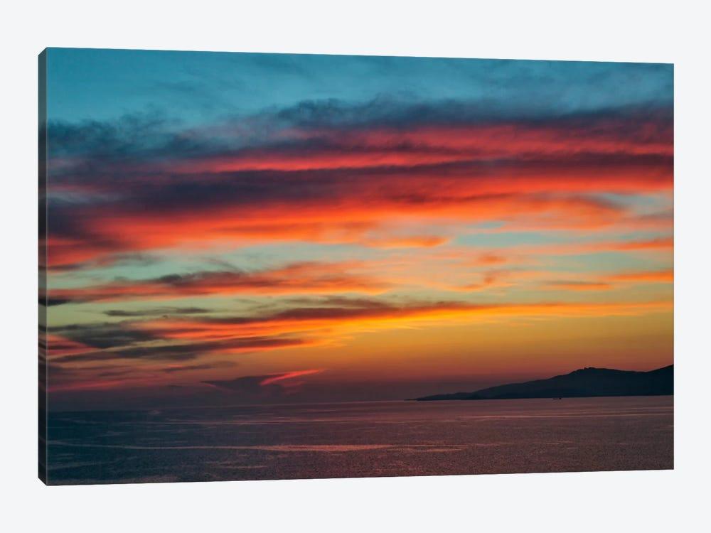 Majestic Seascape Sunset, Mykonos, Cyclades, Greece by Adam Jones 1-piece Art Print