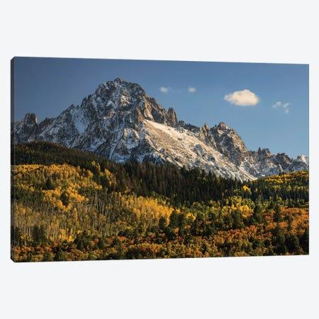 Autumn, Aspen Trees And Sneffels Range, Uncompahgre National Forest, Colorado II Canvas Print #AJO42} by Adam Jones Canvas Artwork