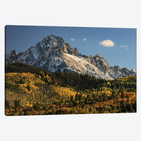 Autumn, Aspen Trees And Sneffels Range, Uncompahgre National Forest, Colorado II Canvas Print #AJO42} by Adam Jones Canvas Artwork