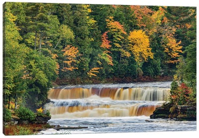 Cascade on Tahquamenon Falls in autumn, Tahquamenon Falls State Park, Michigan Canvas Art Print