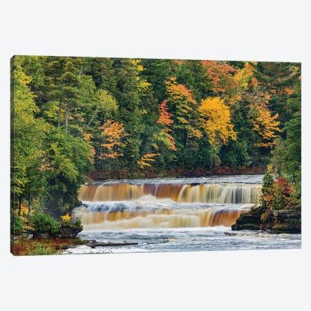 Cascade on Tahquamenon Falls in autumn, Tahquamenon Falls State Park, Michigan Canvas Print #AJO47} by Adam Jones Art Print