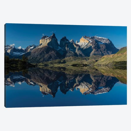 Cuernos del Paine at sunset, Torres del Paine National Park, Chile, Patagonia Canvas Print #AJO55} by Adam Jones Canvas Artwork