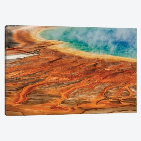 Grand Prismatic Spring, Midway Geyser Basin, Yellowstone National Park, Montana, Wyoming Canvas Print #AJO59} by Adam Jones Canvas Art Print