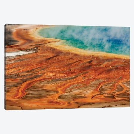 Grand Prismatic Spring, Midway Geyser Basin, Yellowstone National Park, Montana, Wyoming Canvas Print #AJO59} by Adam Jones Canvas Art Print