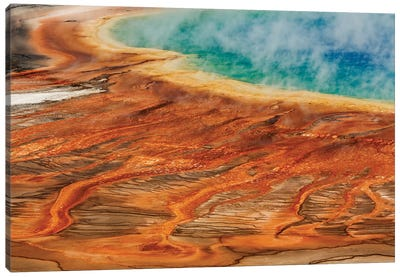 Grand Prismatic Spring, Midway Geyser Basin, Yellowstone National Park, Montana, Wyoming Canvas Art Print
