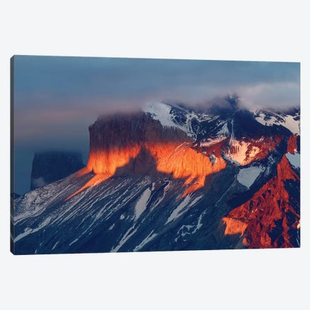 Paine Massif at sunset, Torres del Paine National Park, Chile, Patagonia II Canvas Print #AJO69} by Adam Jones Canvas Wall Art