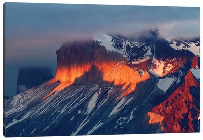 Paine Massif at sunset, Torres del Paine National Park, Chile, Patagonia II Canvas Art Print