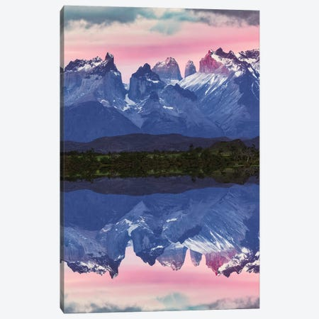 Paine Massif reflection at sunset, Torres del Paine National Park, Chile, Patagonia Canvas Print #AJO71} by Adam Jones Art Print