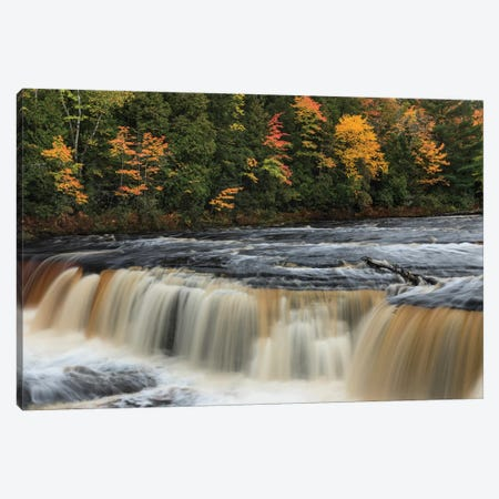 Tahquamenon Falls, Tahquamenon Falls State Park, Whitefish, Michigan I Canvas Print #AJO83} by Adam Jones Canvas Art