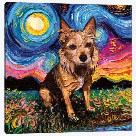 Australian Terrier Canvas Print #AJT102} by Aja Trier Canvas Wall Art