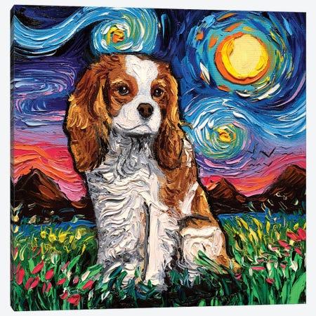 Cavalier King Charles Spaniel Night II 3-Piece Canvas #AJT106} by Aja Trier Canvas Art Print