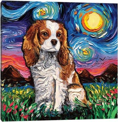 Cavalier King Charles Spaniel Night II Canvas Art Print