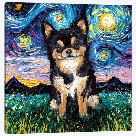 Black And Tan Chihuahua Night Canvas Print #AJT111} by Aja Trier Canvas Print