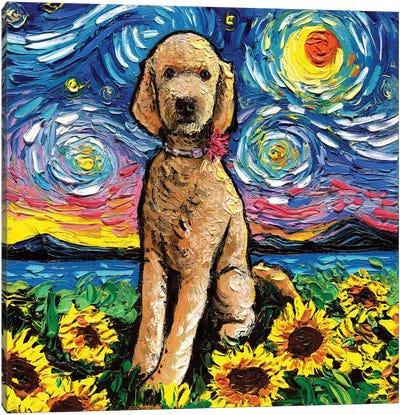 Goldendoodle Night II Canvas Art Print