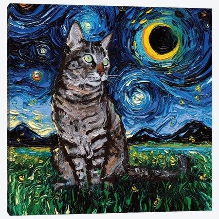Tiger Cat Night Canvas Print #AJT119} by Aja Trier Canvas Art Print