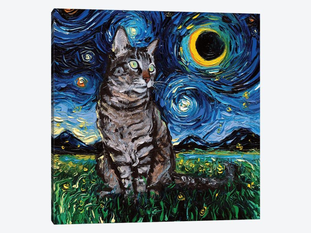 Tiger Cat Night by Aja Trier 1-piece Canvas Art