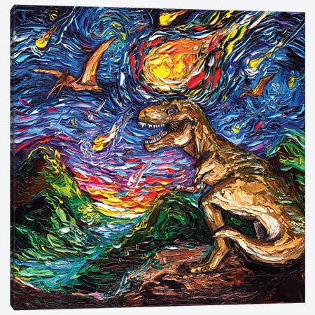 Jurassic Night Canvas Print #AJT121} by Aja Trier Canvas Art
