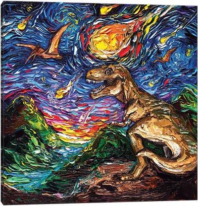 Jurassic Night Canvas Art Print