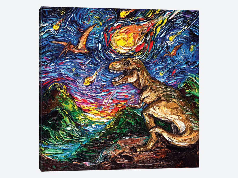 Jurassic Night by Aja Trier 1-piece Art Print
