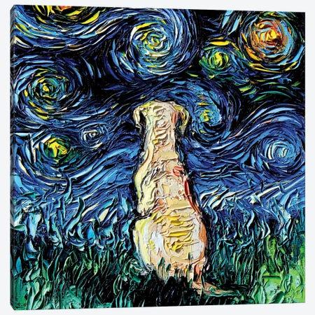 Yellow Labrador Night Canvas Print #AJT122} by Aja Trier Canvas Art