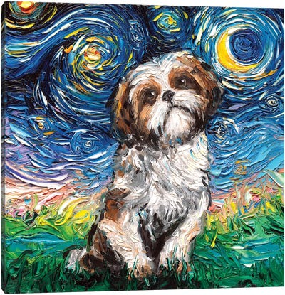 Shih Tzu Night Canvas Art Print