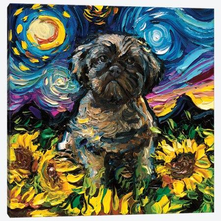 Shih Tzu Night II Canvas Print #AJT125} by Aja Trier Canvas Art Print