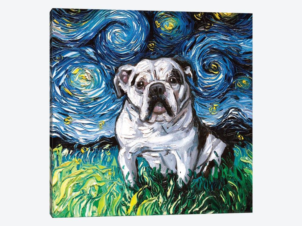 Charlie Bulldog Night by Aja Trier 1-piece Canvas Art Print