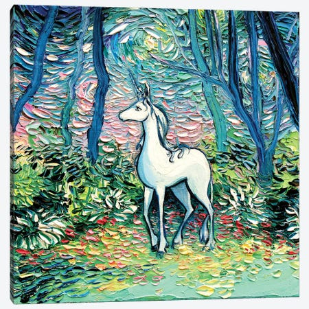 In The Shadow Of The Forest Canvas Print #AJT134} by Aja Trier Canvas Wall Art