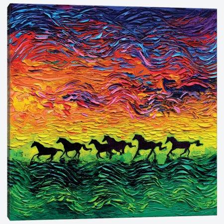 Wild Horses Canvas Print #AJT139} by Aja Trier Canvas Art Print