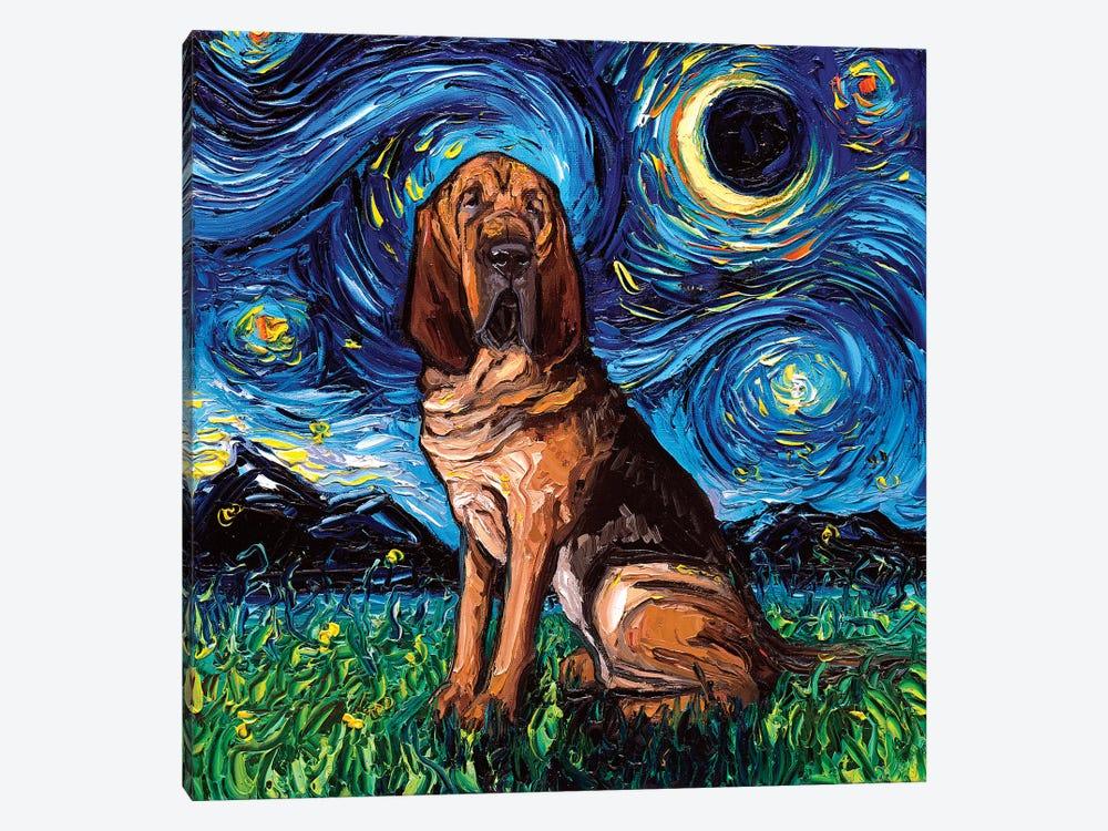 Bloodhound Night by Aja Trier 1-piece Canvas Art Print