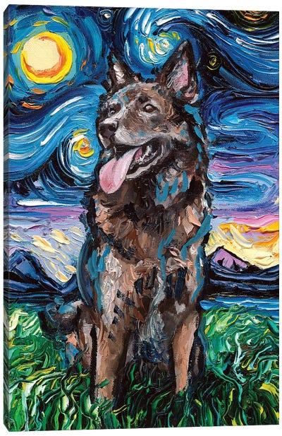 Shepherd Night Canvas Art Print