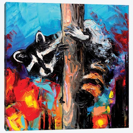 Night Watchman Canvas Print #AJT148} by Aja Trier Canvas Artwork
