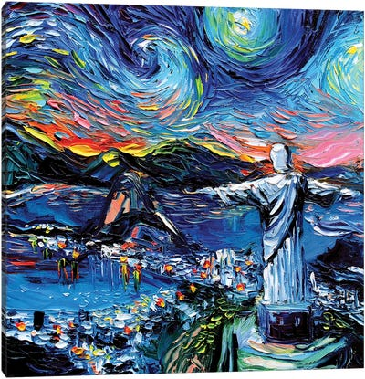 Van Gogh Never Saw Christ The Redeemer Canvas Art Print
