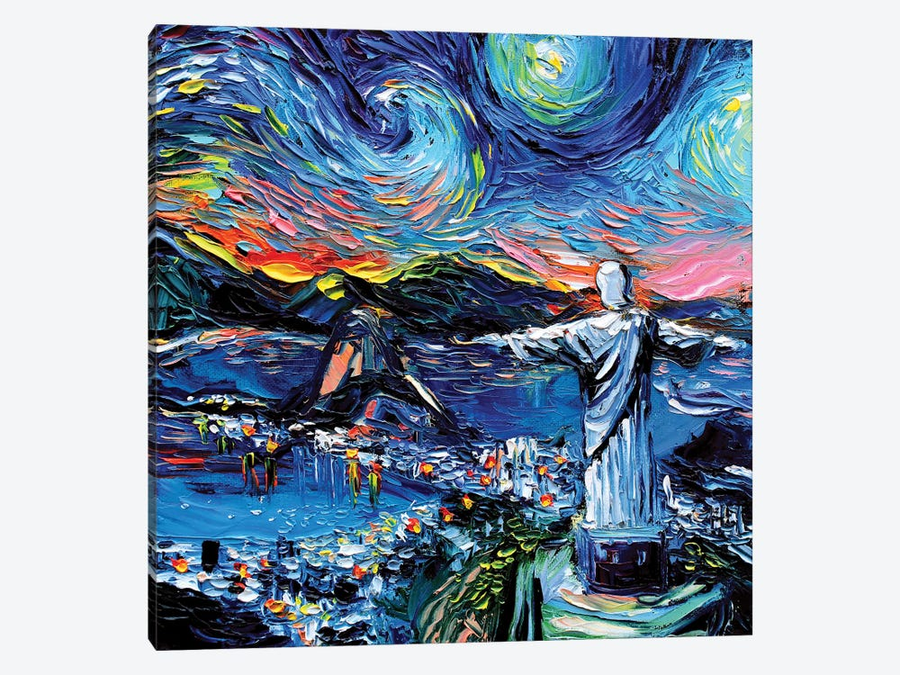 Van Gogh Never Saw Christ The Redeemer by Aja Trier 1-piece Canvas Wall Art