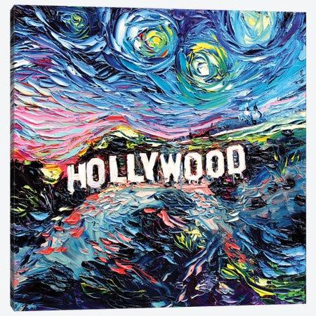 Van Gogh Never Saw Hollywood Canvas Print #AJT152} by Aja Trier Art Print