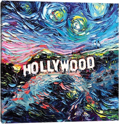 Van Gogh Never Saw Hollywood Canvas Art Print