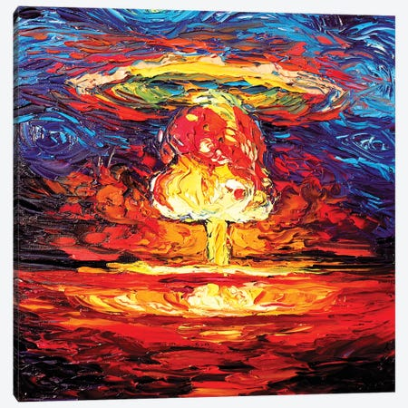 Van Gogh Never Saw Bikini Atoll Canvas Print #AJT153} by Aja Trier Canvas Print