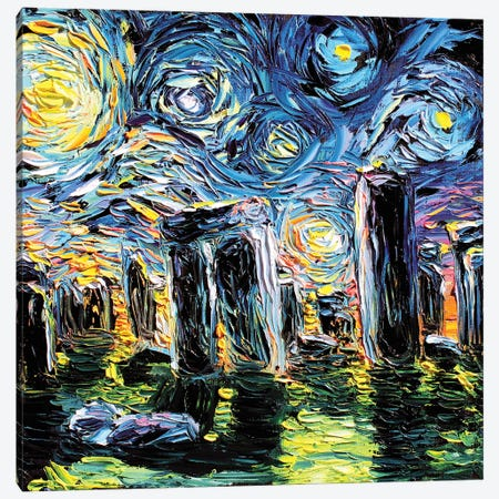 Van Gogh Never Saw Stonehenge Canvas Print #AJT154} by Aja Trier Canvas Wall Art